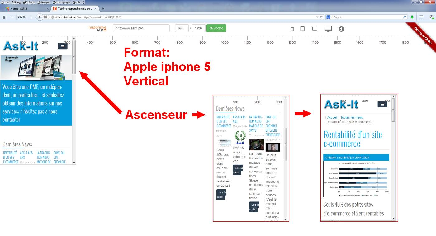 Responsive sur Ipad 5 de Apple