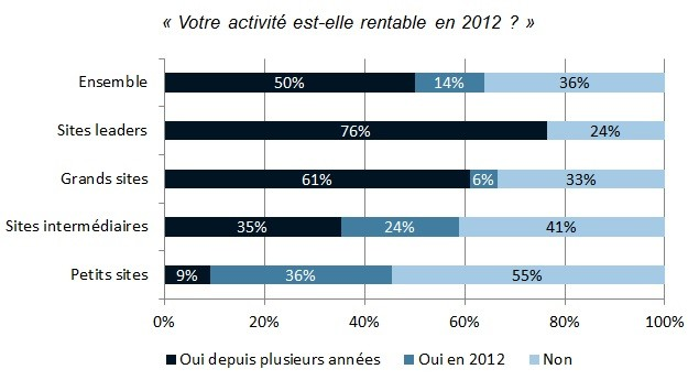 Statistiques rentabilité e-commerce 2012