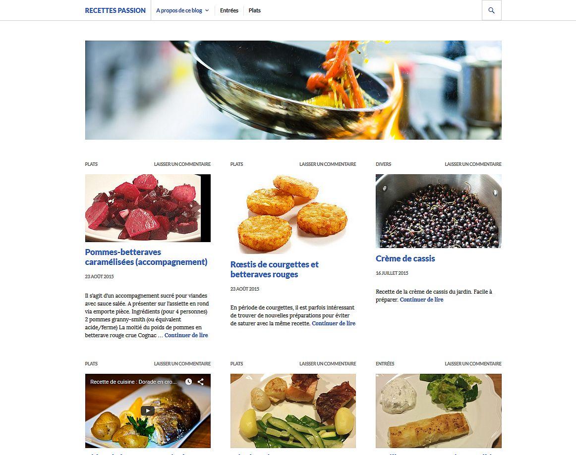 Blog sous WordPress - plate-forme