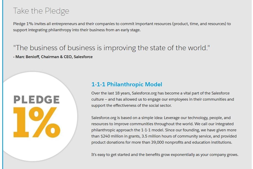 Salesforce.org - Nonprofit - 1-1-1 Philantropic